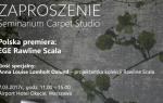 Polska premiera kolekcji wykładzin Rawline Scala marki EGE - Zaproszenie na sem